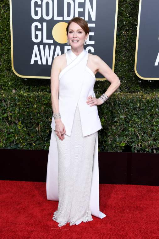 Julianne Moore attends the 76th Annual Golden Globe Awards at The Beverly Hilton Hotel on January 6, 2019 in Beverly Hills, California. (Photo by Jon Kopaloff/Getty Images)