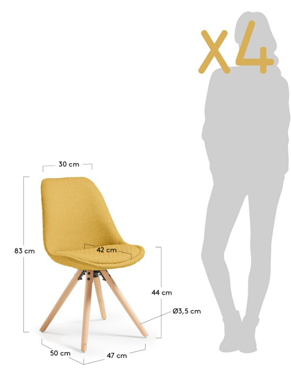 lass chair mustard