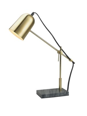 Signore table lamp brass marble base