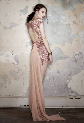 aje rose gold dress