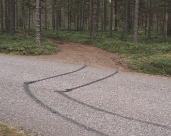 Skidmarks in the Savonia region, the epicentre of the Forest Finn migration in the 17th century.