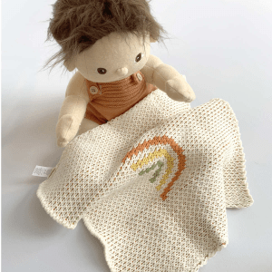 Dinkum doll peanut with rainbow blanket, sold separately. Available from Velvetgear Singapore