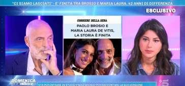 Perché Paolo Brosio e Marialaura De Vitis si sono lasciati? La verità a Domenica Live