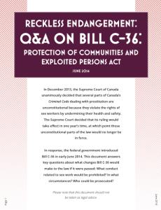 BILL c-36 analysis