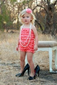 little girl in high heels