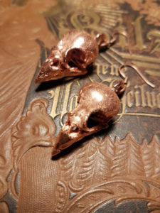 wacky-wednesday-WHISPER-Copperformed-Sparrow-Skull-Earrings