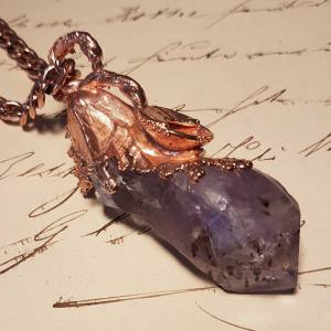 wacky-wednesday-oak-and-chain-Solid-Copper-And-Amethyst-Talisman-And-Chain