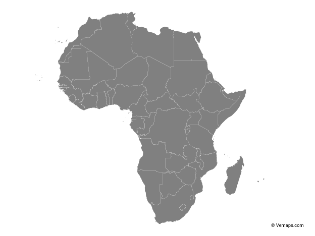 Outline Map Of Africa With Countries Free Vector Maps