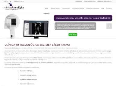 Diseño web Excimer Láser Palma - Desarrollo web para clínicas