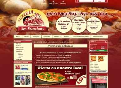 Diseño y desarrollo de webs tienda y tiendas online en Mallorca - Pizzería Ses Estacions