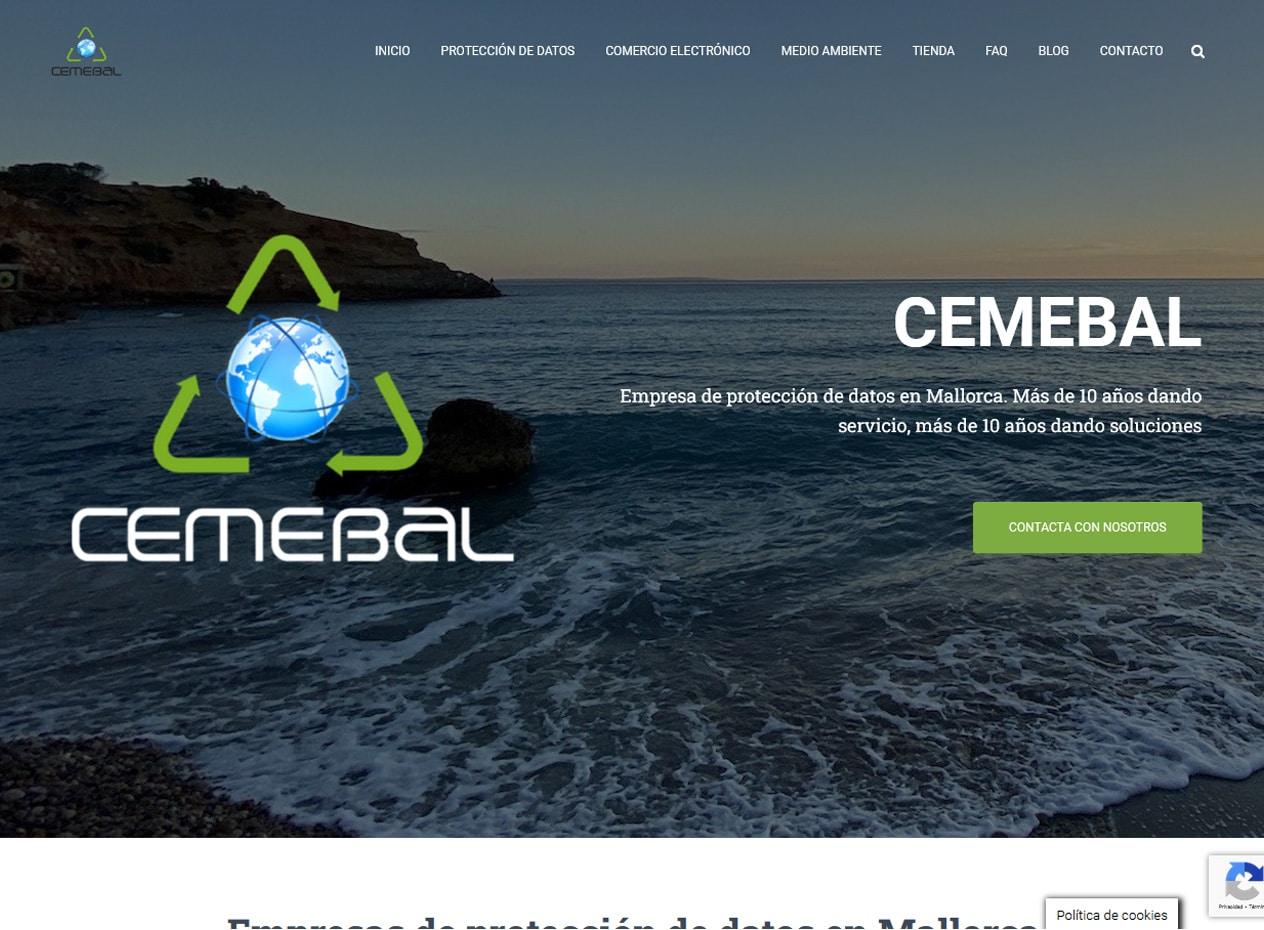 Diseño web para empresas de protección de datos en Mallorca - Cemebal