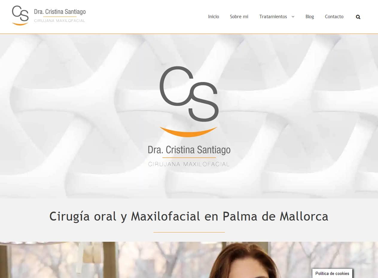 Posicionamiento web para clínicas en Mallorca - Doctora Cristina Santiago