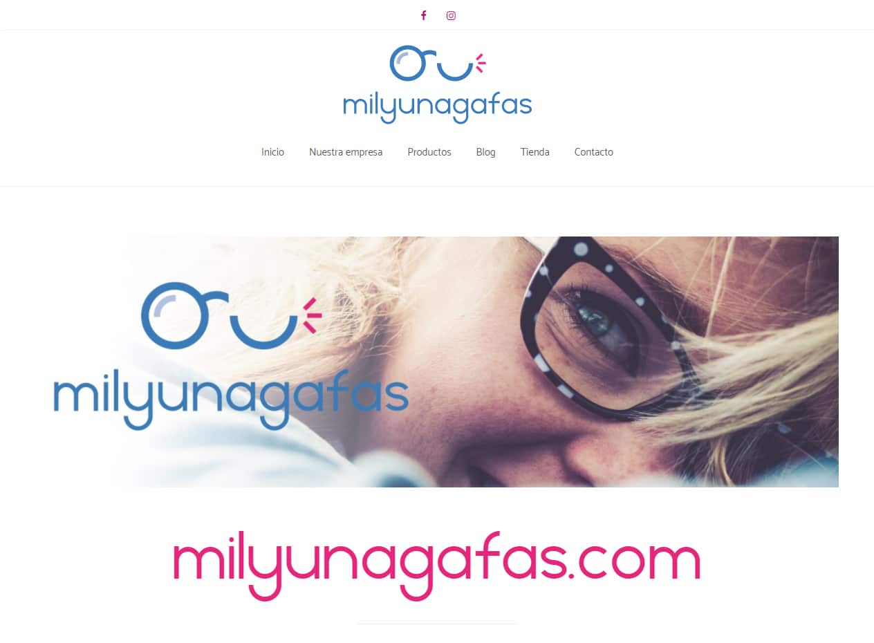 Diseño web y tiendas online para ópticas - milyunagafas.com