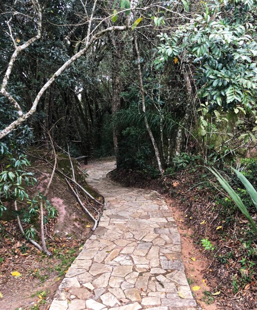 trilha do bosque em vila velha