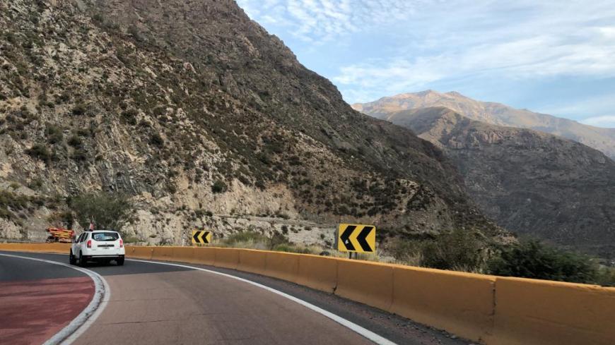Estrada na Cordilheira dos Andes