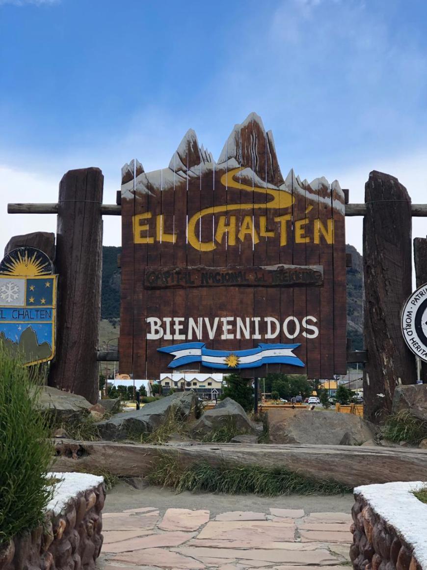 Placa da cidade de El Chaltén