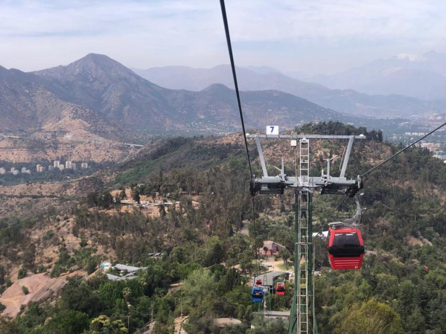 Teleférico em Santiago