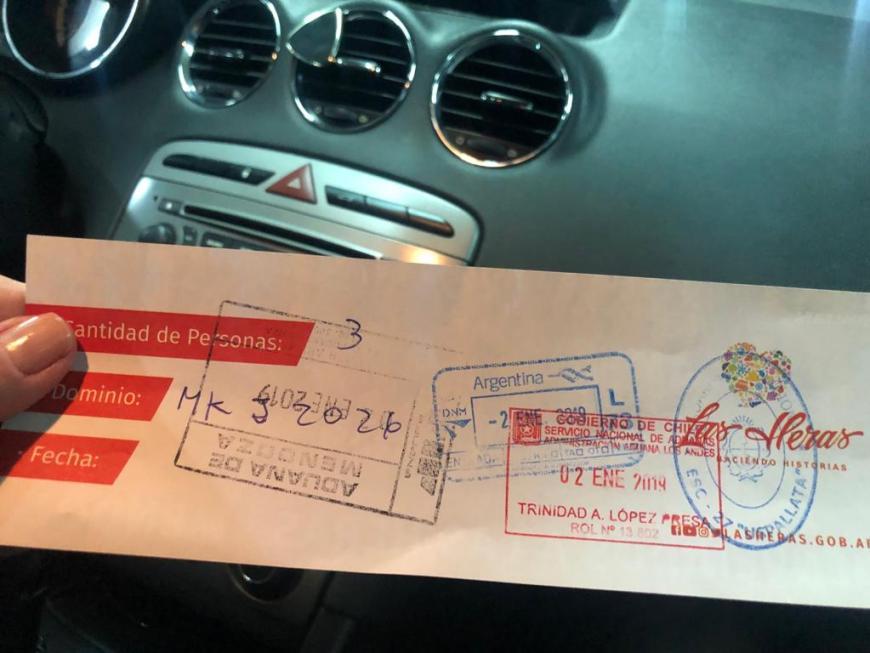 Carimbos na aduana argentina