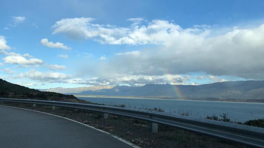 Arco-íris no lago Argentino
