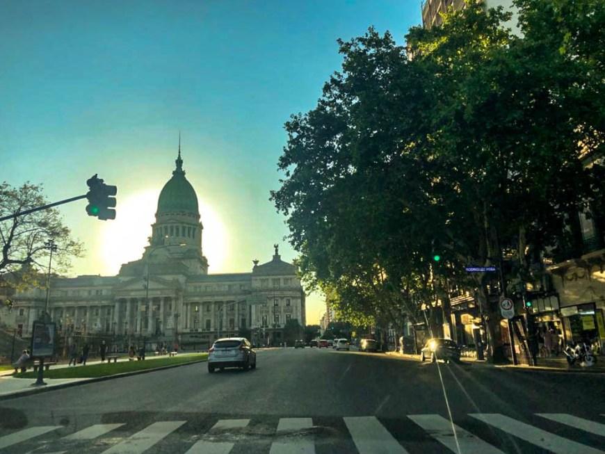 por do sol em Buenos Aires