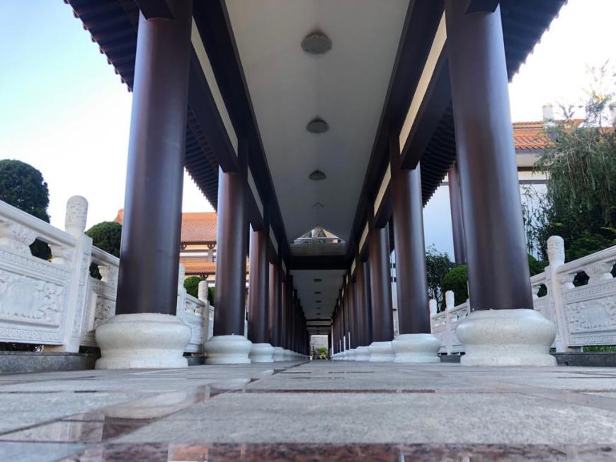 Pátio Templo Zu Lai