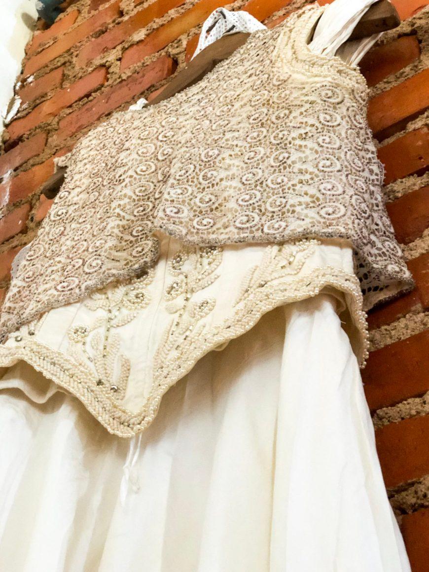vestido de noiva feito no tear