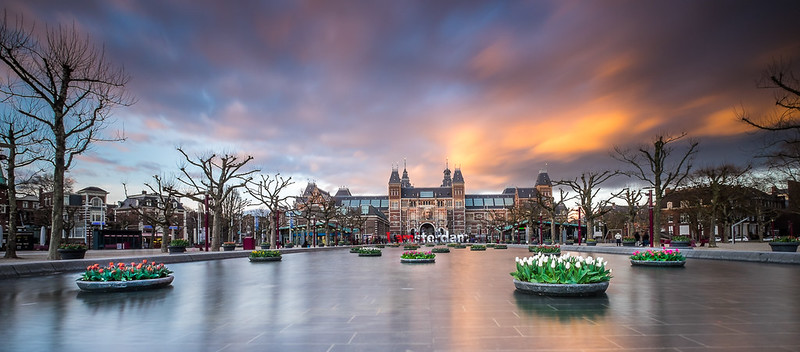 Sunrise at Amsterdam (City Scape)  - by Daan Wagner