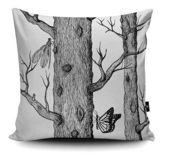 Squirrel sofa cushion fitting to Cole and Son's Woods wallpaper