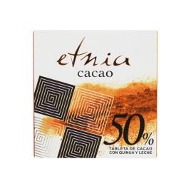 Tableta de chocolate ETNIA CACAO 50% con leche y quinua