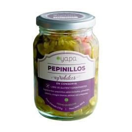 Pepinillos agridulces en rodajas, sin gluten