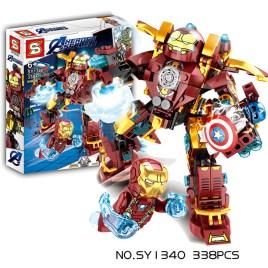 Juego de construcción Ironman MK46 Vs Capitán America