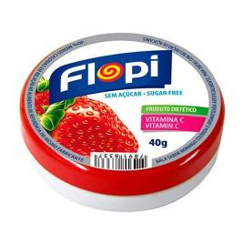 Caramelos duros sin azúcar Flopi, sabor frutilla