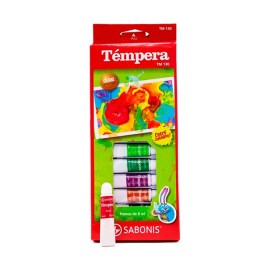 Témpera de 12 colores Sabonis