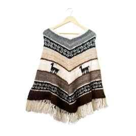 Poncho Bolivianita Shop en lana de alpaca 100%, modelo Altiplano
