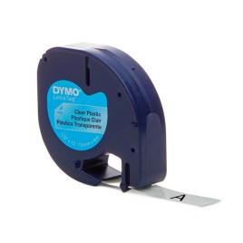 Cinta plástico Dymo Letratag 12mm x 4m, disponible en varios colores