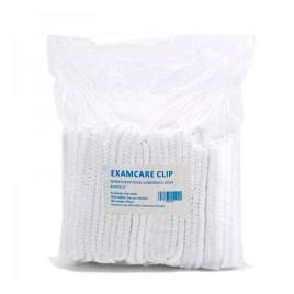 Cofias desechables cubre-cabellos color blanco, bolsa de 100 unidades