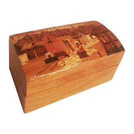 Joyero baúl hecho a mano en madera
