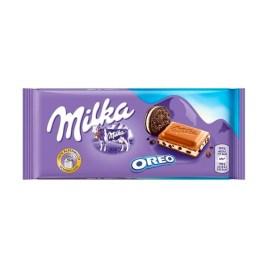 Barra de chocolate con leche Milka, varios sabores