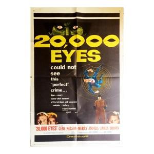 Afiche histórico original 20.000 EYES