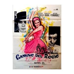 Afiche histórico original CAMINO DEL ROCÍO