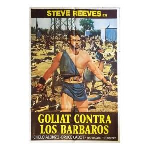 Afiche histórico original GOLIAT CONTRA LOS BÁRBAROS