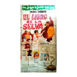 Afiche histórico original EL LIBRO DE LA SELVA