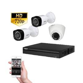 Kit videovigilancia con 3 cámaras HD Dahua Technology