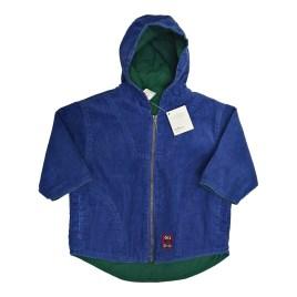 Chaqueta para bebé azul con capucha