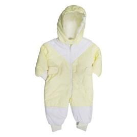 Enterizo acolchado para bebé, color amarillo limón (6-18 meses)