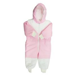 Enterizo acolchado para bebé, color rosa (12-18 meses)