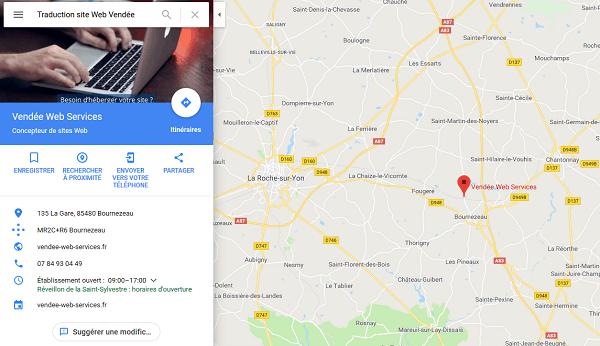 Votre fiche sur Google Maps
