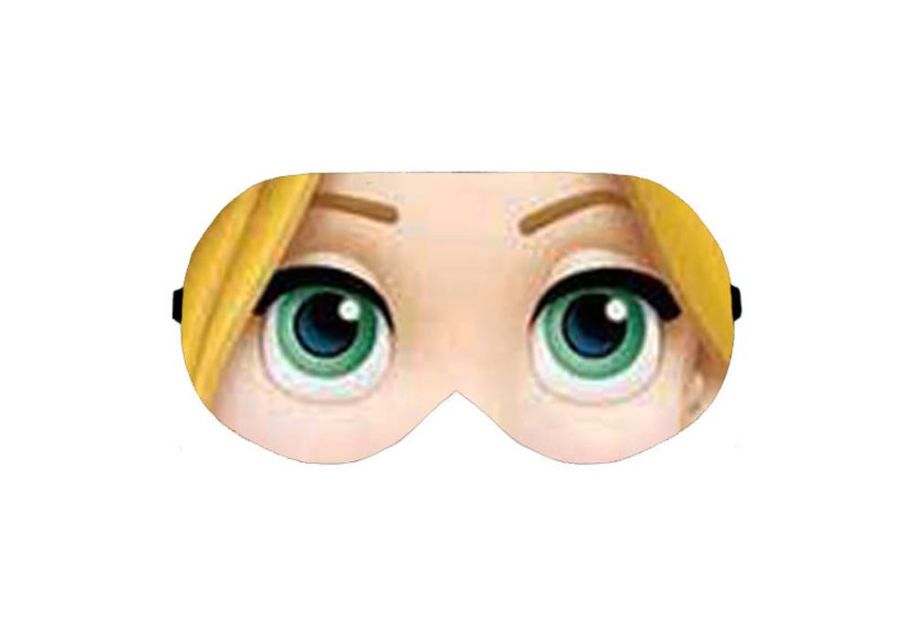 Rapunzel Tangled Long Hair Fairy Tale Disney Film Face Eye Sleep Sleeping Mask Masks Pillow Shade Wear Light Block Eyemask Sleepmask Blindfold Slumber Eyeshade Travel Kit Eyes Cover Covers Wear Accessory Eyewear