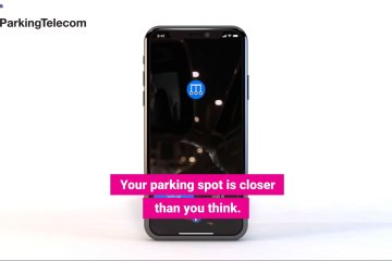 screenshot from explainer for Parking telecom app