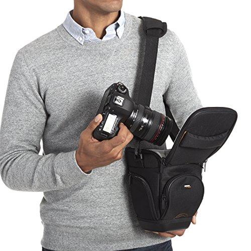 AmazonBasics Holster Camera Case for DSLR Cameras - Black - VendeTodito